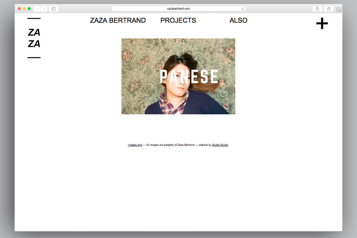 Redesign website Zaza Bertrand | Mathieu Cieters